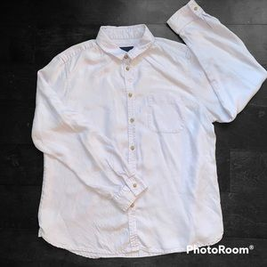 American Eagle Outfitters Light Purple Button Down Long Sleeve Size Large.